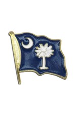 Popcorn Tree Lapel Pin - South Carolina Flag