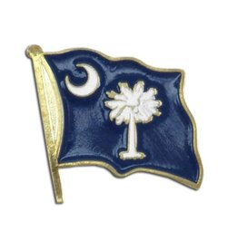 Popcorn Tree Lapel Pin - South Carolina Flag