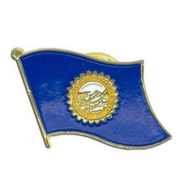 Popcorn Tree Lapel Pin - South Dakota Flag