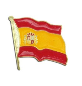 Popcorn Tree Lapel Pin - Spain Flag