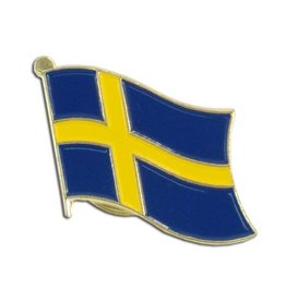 Popcorn Tree Lapel Pin - Sweden Flag