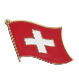 Popcorn Tree Lapel Pin - Switzerland Flag