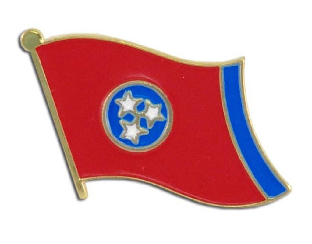Popcorn Tree Lapel Pin - Tennessee Flag