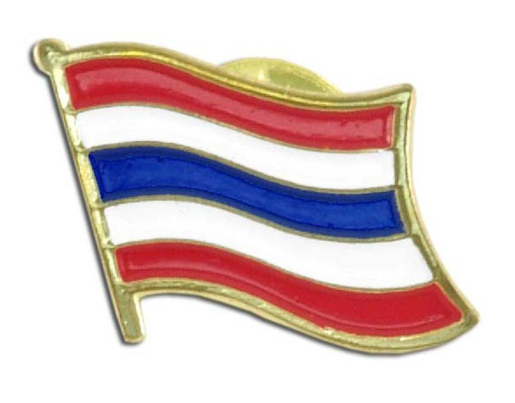 Popcorn Tree Lapel Pin - Thailand Flag