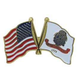 Popcorn Tree Lapel Pin - US and Army Flags