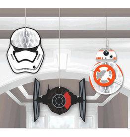 Star Wars Episode VII - Honeycomb Decorations