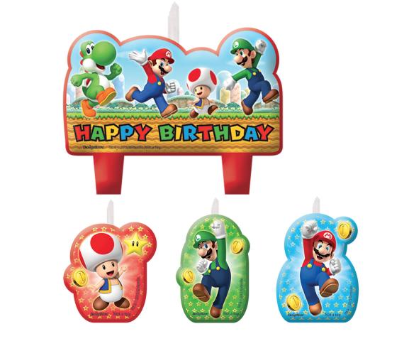 Super Mario - Candle Set