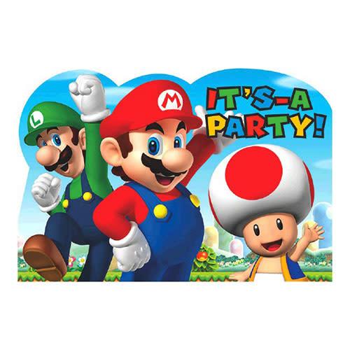 Super Mario Brothers - Invitations