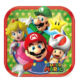 "Super Mario Brothers - Plates, 7"" Square"