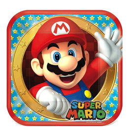"Super Mario Brothers - Plates, 9"" Square"
