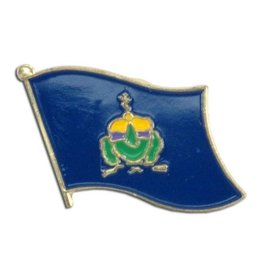 Popcorn Tree Lapel Pin - Vermont Flag