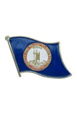 Popcorn Tree Lapel Pin - Virginia Flag