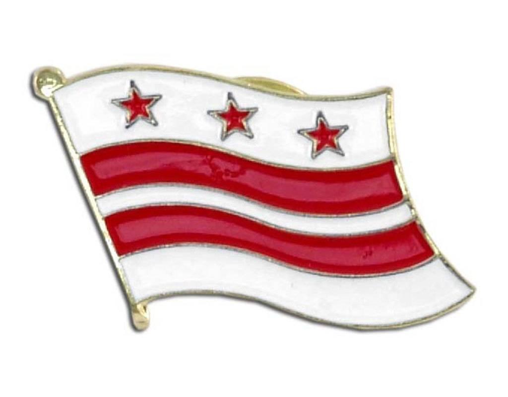 Popcorn Tree Lapel Pin - Washington DC Flag