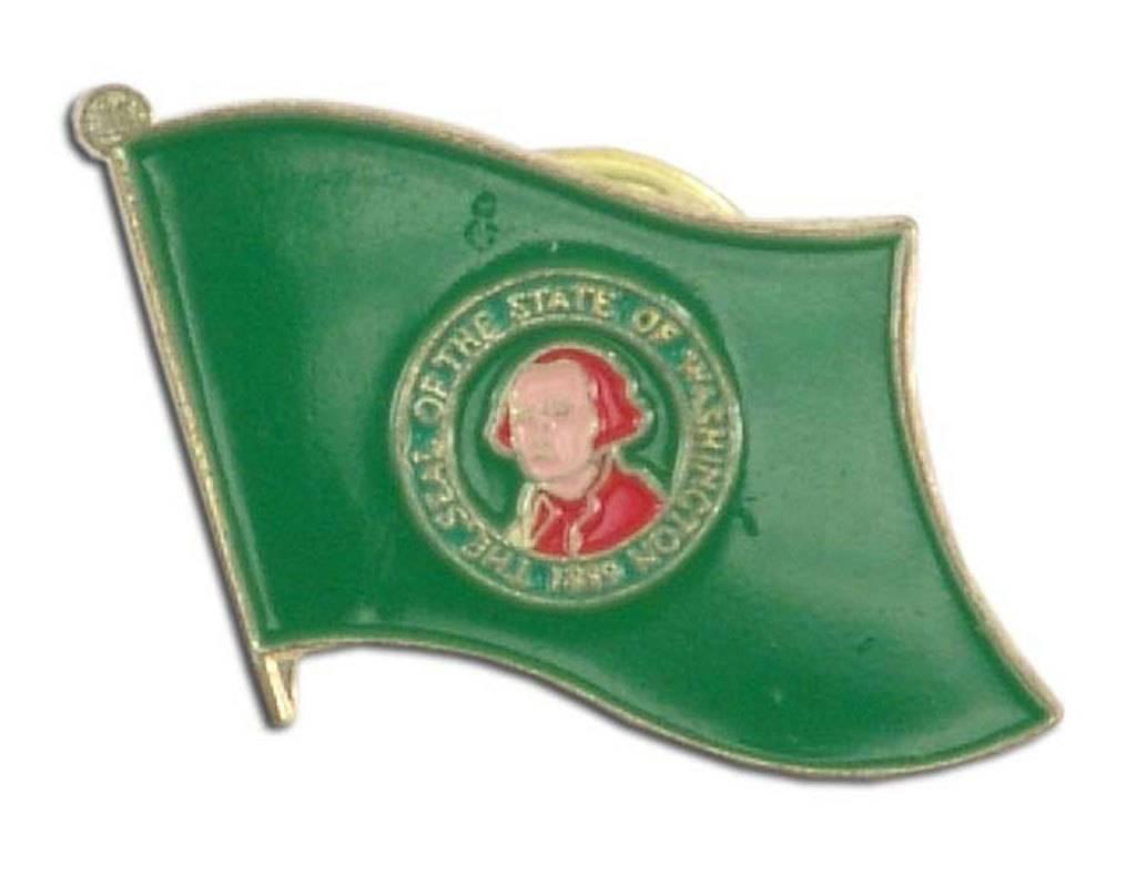 Popcorn Tree Lapel Pin - Washington Flag