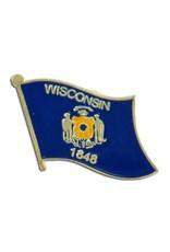 Popcorn Tree Lapel Pin - Wisconsin Flag