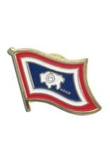 Popcorn Tree Lapel Pin - Wyoming Flag