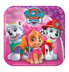 "Paw Patrol Girl - Plate 7"""