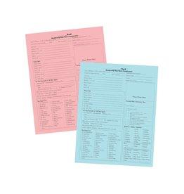 EXEMPLAR PRESS Membership Data Sheets (100ct)