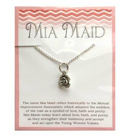 Popcorn Tree Mia Maid Rose Necklace