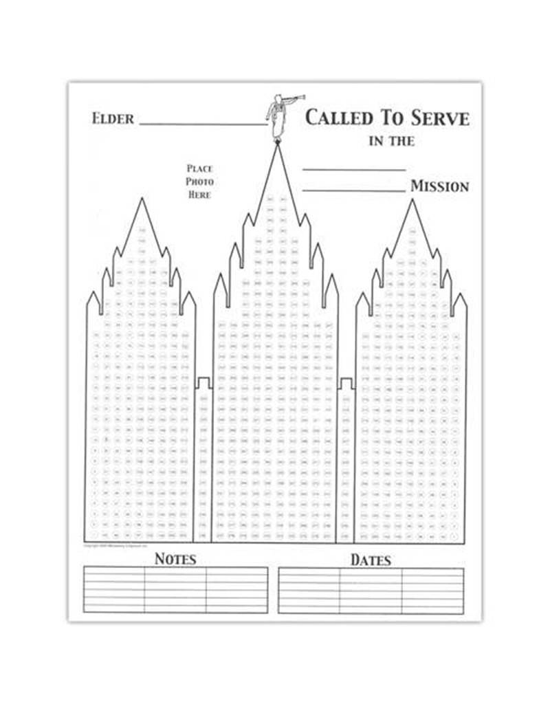 Ringmasters LDS Missionary Countdown - Chart, 8.5x11