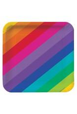 "Creative Converting Rainbow - Plates, 7"" Square"