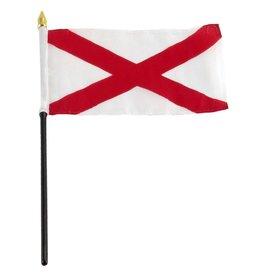 """Popcorn Tree Stick Flag 4""""x6"""" - Alabama"""
