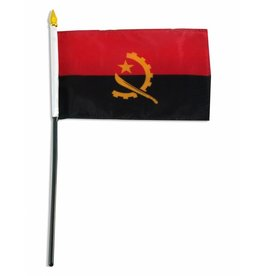 "Popcorn Tree Stick Flag 4""x6"" - Angola"