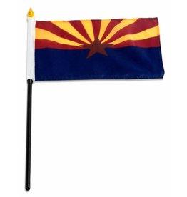 "Popcorn Tree Stick Flag 4""x6"" - Arizona"