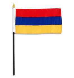 "Popcorn Tree Stick Flag 4""x6"" - Armenia"