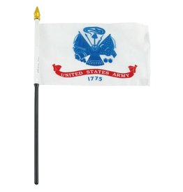 "Popcorn Tree Stick Flag 4""x6"" - Army"