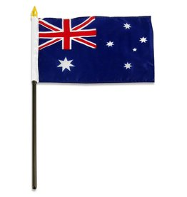 "Popcorn Tree Stick Flag 4""x6"" - Australia"