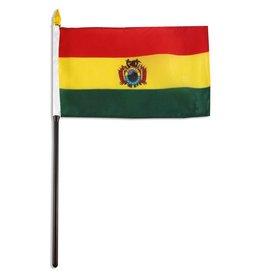 "Popcorn Tree Stick Flag 4""x6"" - Bolivia"