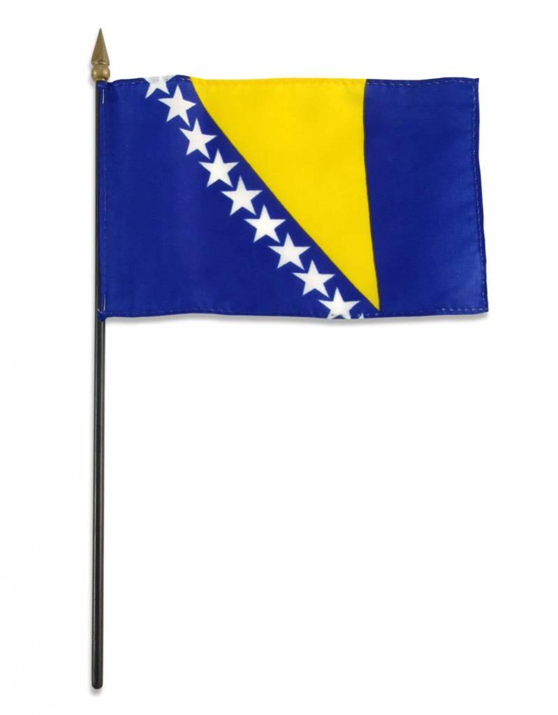 "Popcorn Tree Stick Flag 4""x6"" - Bosnia"