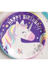 "Unique Unicorn - 9"" Plates"