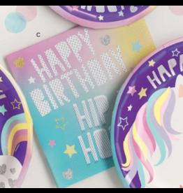 Unique Unicorn - Happy Birthday Napkin