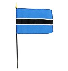 "Popcorn Tree Stick Flag 4""x6"" - Botswana"