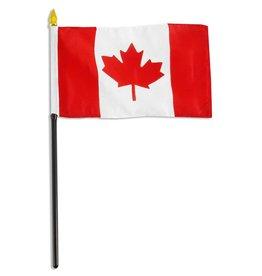 "Popcorn Tree Stick Flag 4""x6"" - Canada"