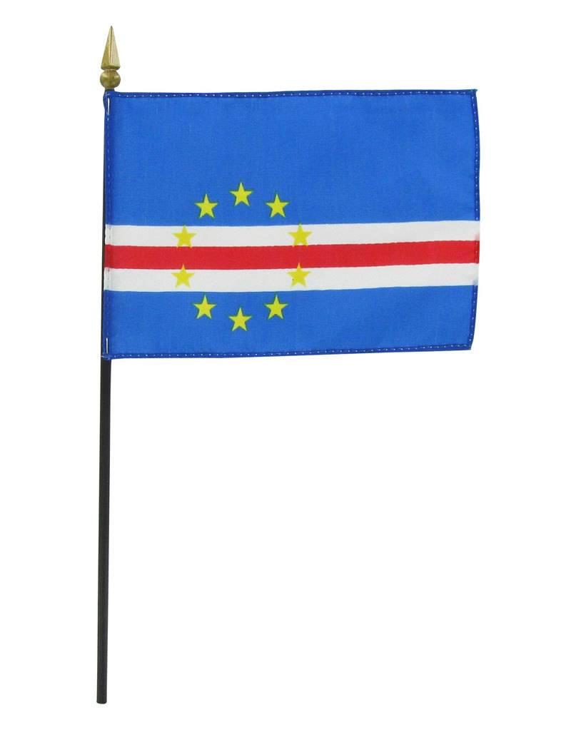 "Popcorn Tree Stick Flag 4""x6"" - Cape Verde"