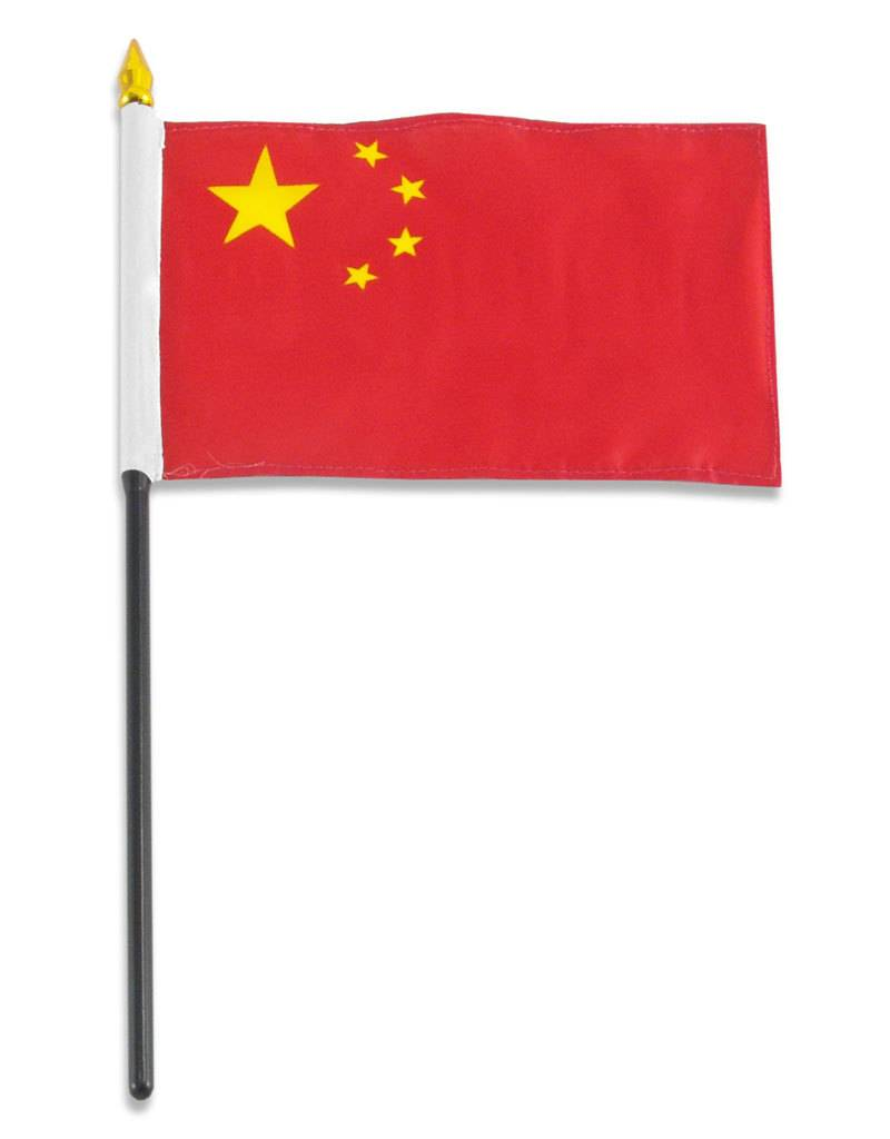 "Popcorn Tree Stick Flag 4""x6"" - China"