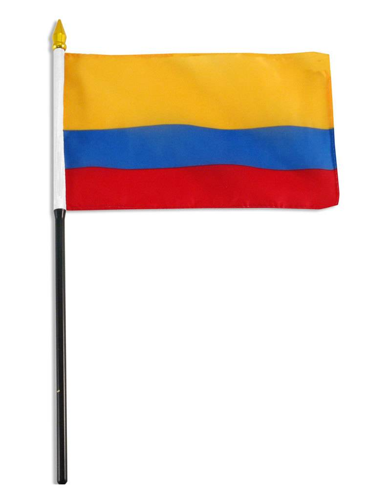 "Popcorn Tree Stick Flag 4""x6"" - Colombia"