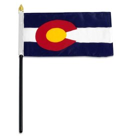 "Popcorn Tree Stick Flag 4""x6"" - Colorado"