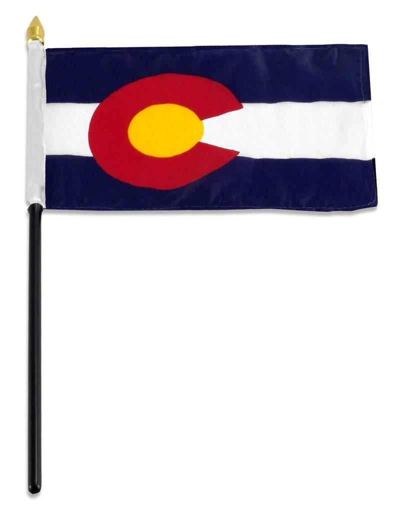 "Popcorn Tree Stick Flag 4""x6"" - Colorado"