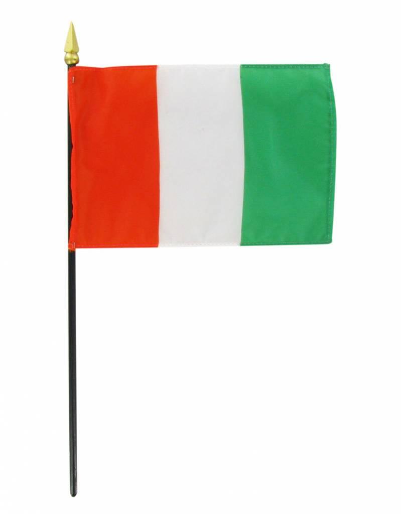 "Popcorn Tree Stick Flag 4""x6"" - Cote d Ivoire (Ivory Coast)"