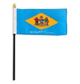 "Popcorn Tree Stick Flag 4""x6"" - Delaware"