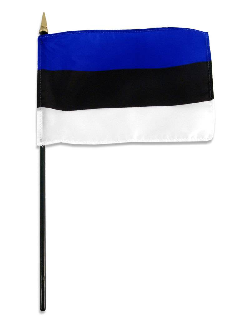 "Popcorn Tree Stick Flag 4""x6"" - Estonia"