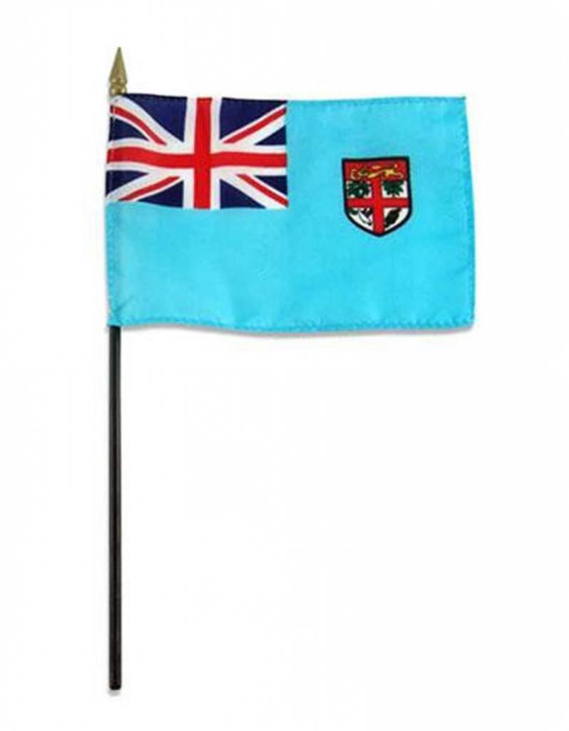 "Popcorn Tree Stick Flag 4""x6"" - Fiji"