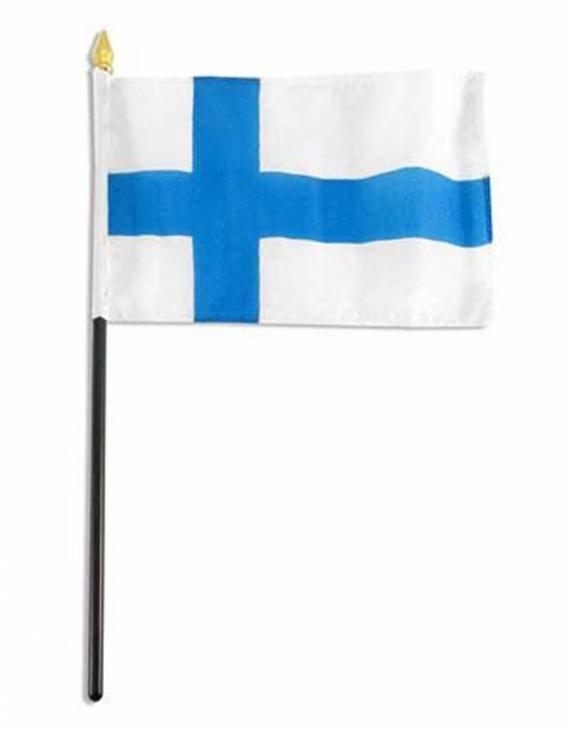 "Popcorn Tree Stick Flag 4""x6"" - Finland"