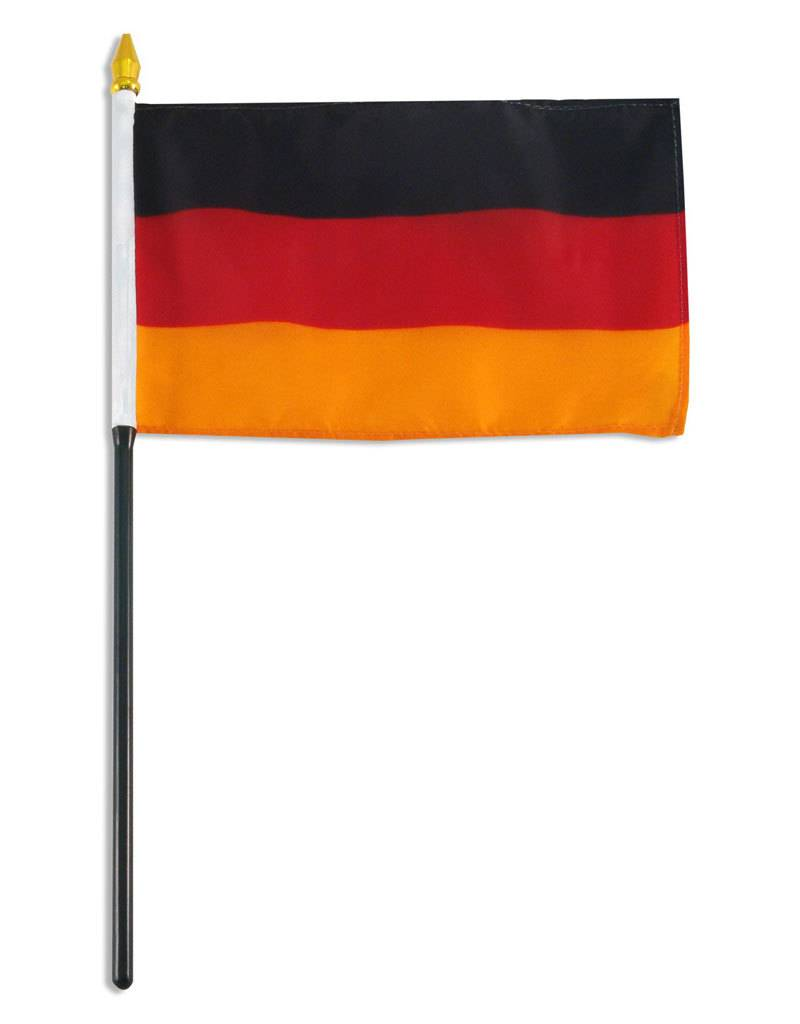 "Popcorn Tree Stick Flag 4""x6"" - Germany"