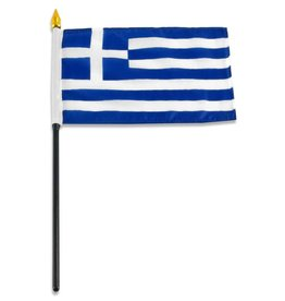 "Popcorn Tree Stick Flag 4""x6"" - Greece"