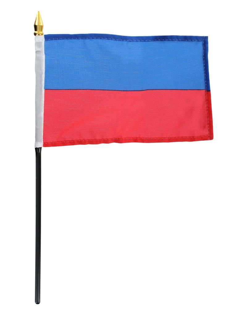 "Popcorn Tree Stick Flag 4""x6"" - Haiti"